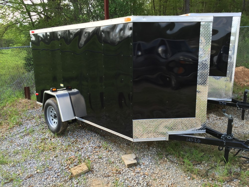 5x10 Enclosed Single Axle Trailer