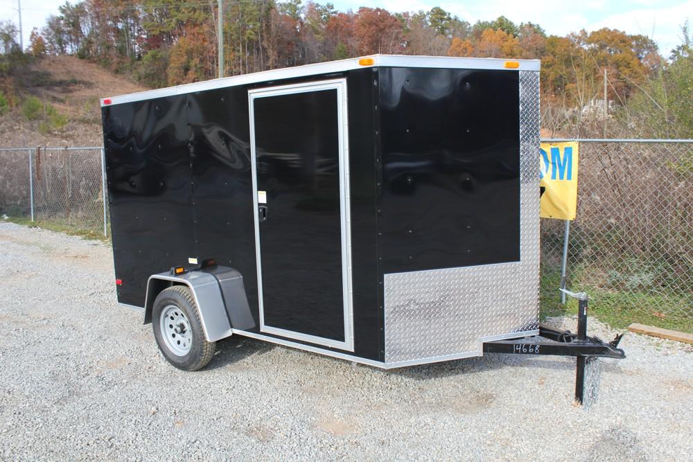 A Black 6x10 Enclosed Trailer For Sale
